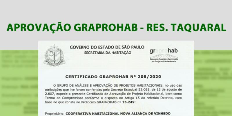 Certificado de Aprovação GRAPROHAB – Residencial Taquaral