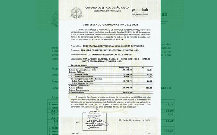 Certificado Graprohab